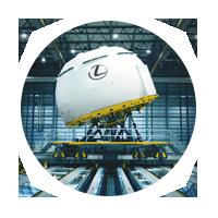 Vista detalle de sistemas de simulación e instalaciones de test para el CT 200h