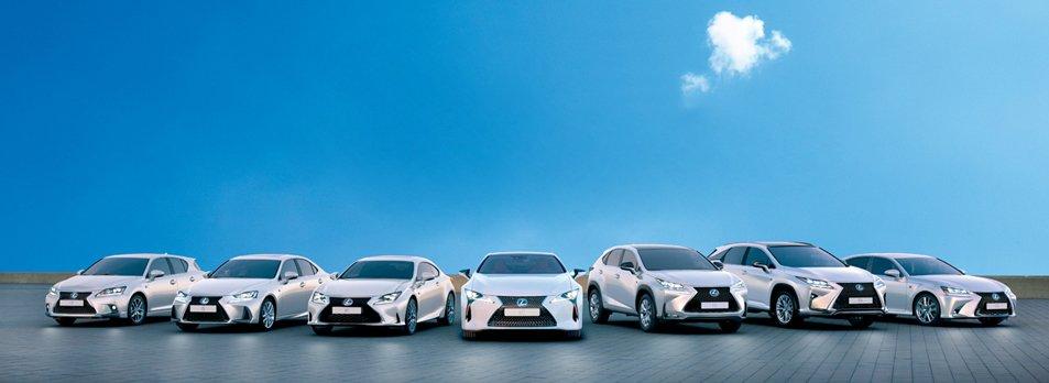 Vista frontal de la gama Lexus