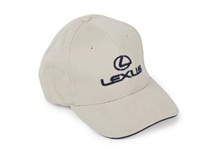 Vista lateral de la gorra Beige Lexus