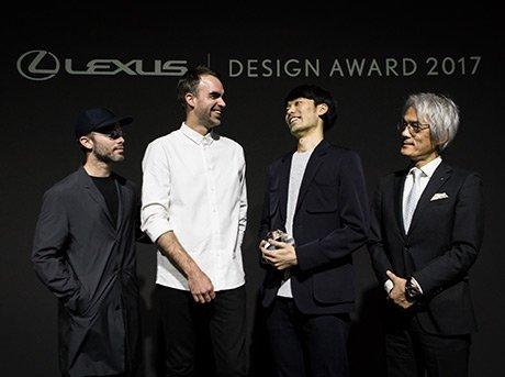 Imagen frontal de Hiroto Yoshizoe ganador de los Lexus Design Award 2017