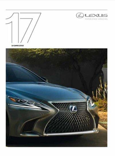 Portada del catálogo de la Gama Lexus