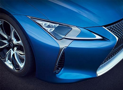 Lexus LC 500 muotoilun kohokohdat LED valot