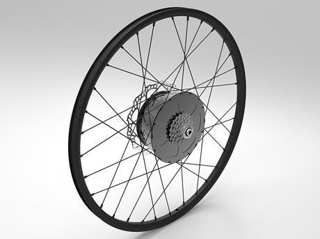 E wheel on integroitu sähköpyörä joka perustuu all in one ajatukseen