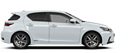 Lexus CT 200h menu