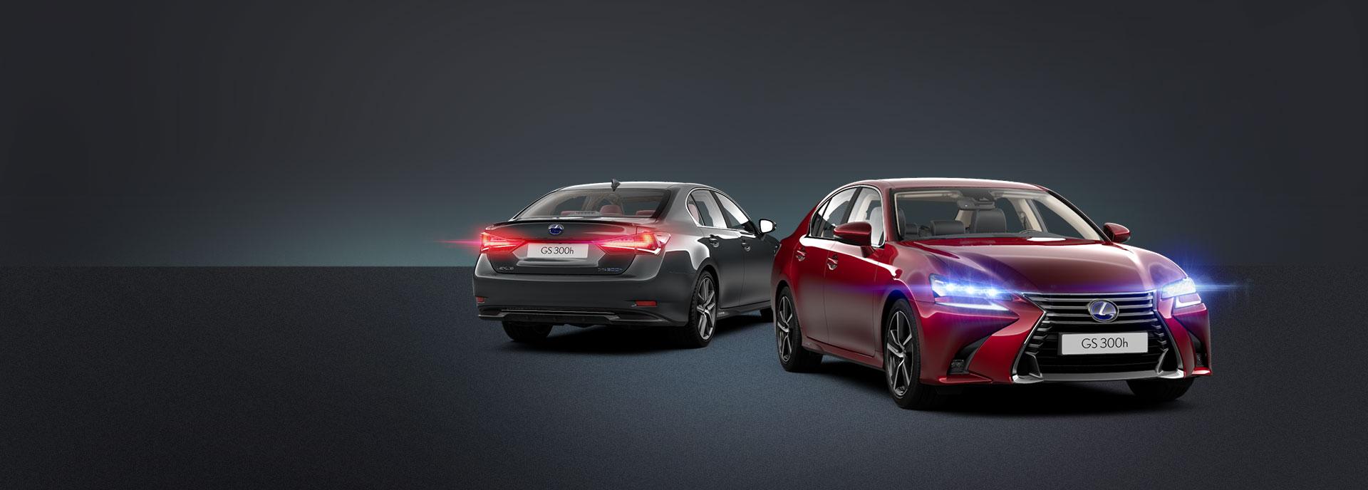 musta ja punainen Lexus GS 300h Hybrid