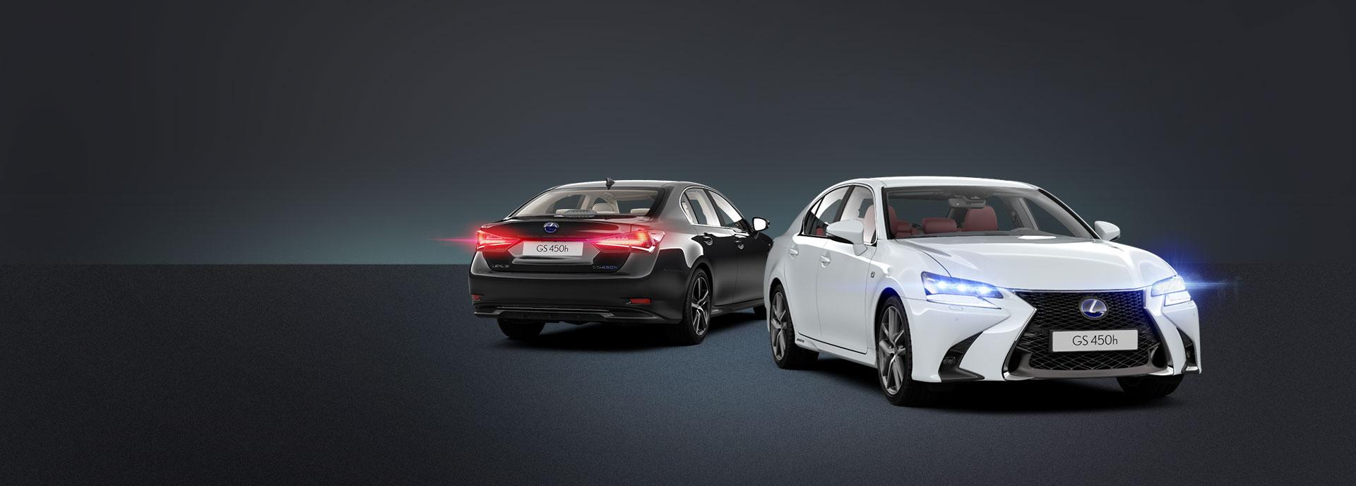 musta ja valkoinen Lexus GS 450h Hybrid