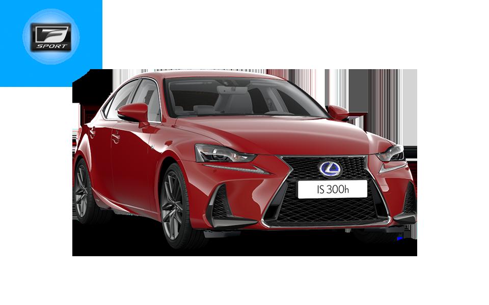punainen Lexus IS 300h F SPORT Hybrid