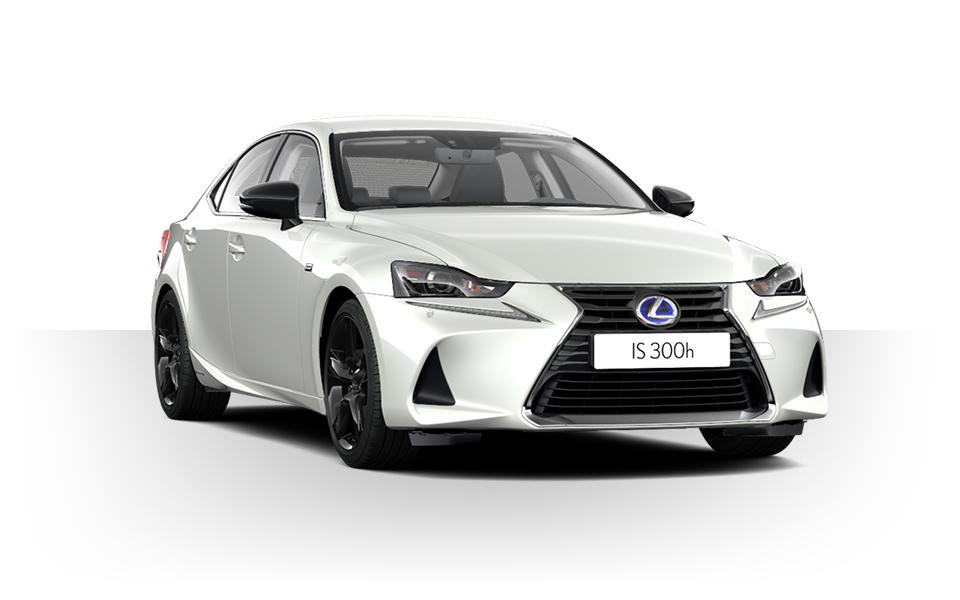 valkoinen Lexus IS 300h Sport Hybrid