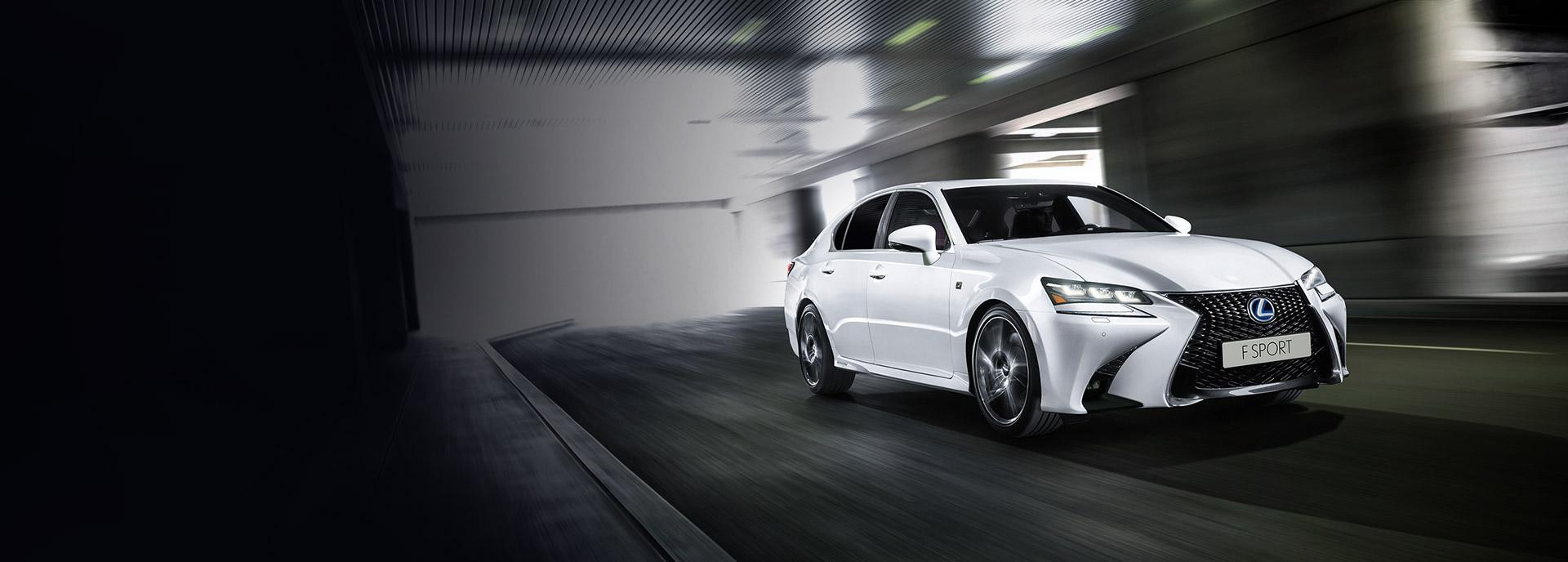 valkoinen Lexus GS 450h Hybrid hero