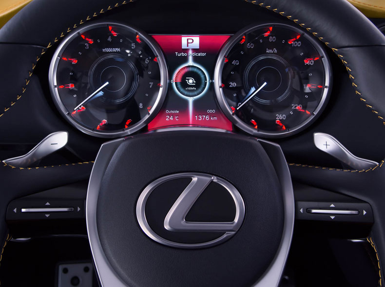 Lexus LF NX Concept Car Steering Wheel