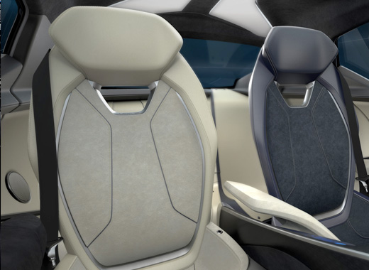 Inside Lexus LF SA Concept Car Seats