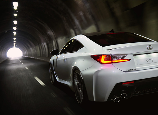 Lexus RCF White Rear View