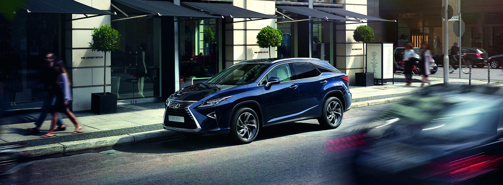Blue Lexus RX 200t Turbo Side View