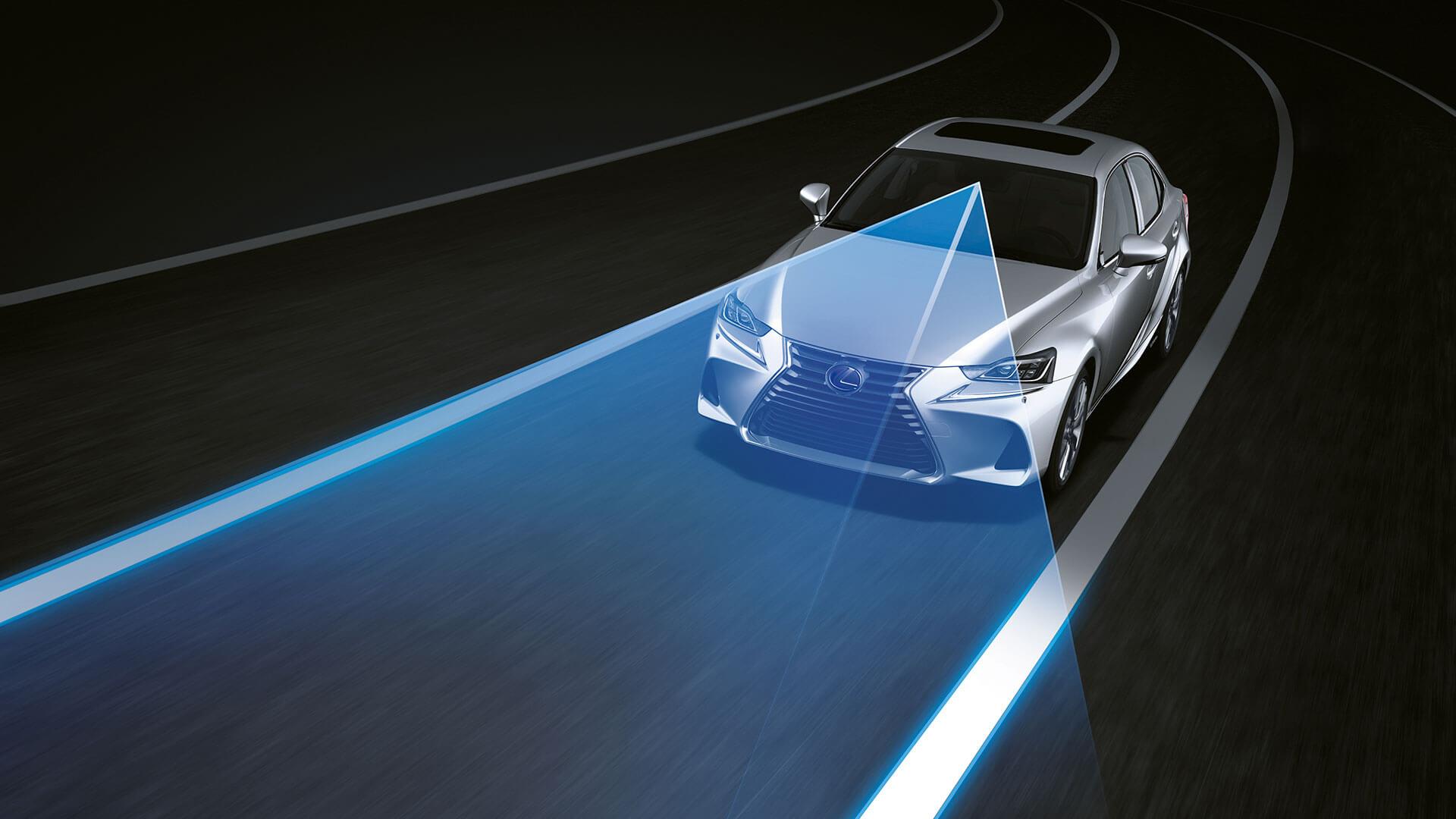 2017 lexus is 300h features lane keeping assist