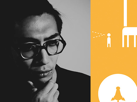 Primo piano di Keita Ebidzuka ideatore del progetto Animal Masks