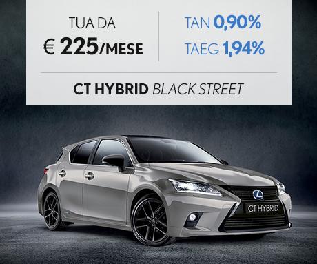 CT Hybrid Black Street color sonic titanium a 225 al mese con Pay Per Drive