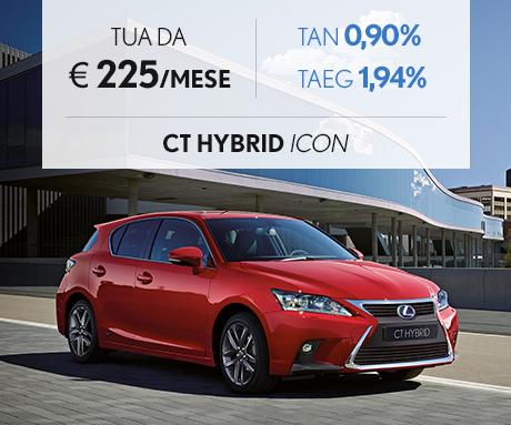 CT Hybrid ICON rossa con cerchi bruniti 17 pollici a 225 al mese con Pay Per Drive