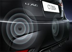Dettaglio dei sensori di parcheggio posteriore di CT Hybrid Black Street