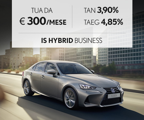 IS Hybrid a 300 euro al mese con offerta PAY PER DRIVE