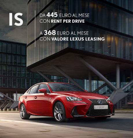 IS Hybrid rossa in offerta con rent per drive e valore lexus leasing