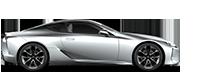Vista laterale della supercar LC Hybrid bianca