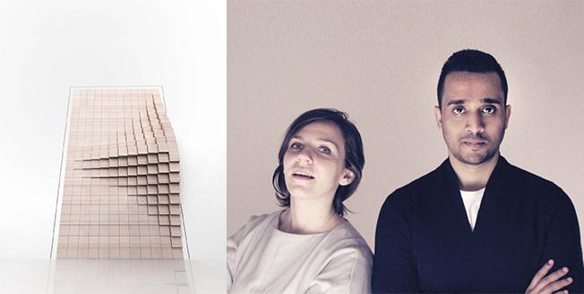 Foto del progetto Slow Door e degli autori Deepak Jawahar indiano e Irina Michaela Bogdan romena