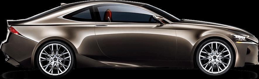 Vista laterale della concept coupé LF CC Full Hybrid