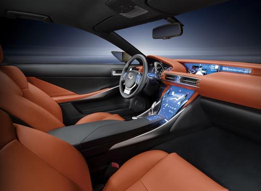 Dettaglio interni vista laterale della concept Coupé LF CC Full Hybrid