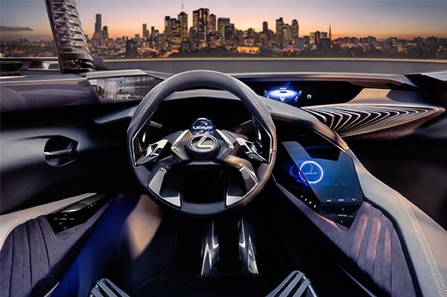 Lexus UX dettaglio interno della plancia comandi