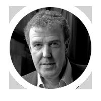Volto di Jeremy Clarkson ex presentatore del programma Top Gear della BBC