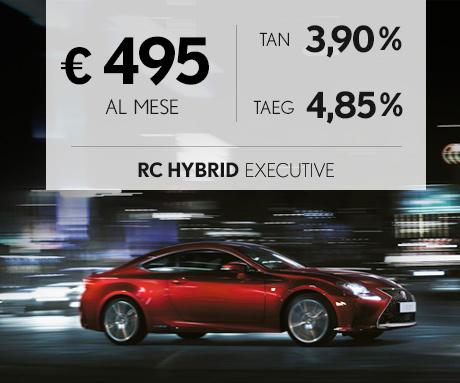 RC Hybrid a 495 euro al mese con offerta Leasing