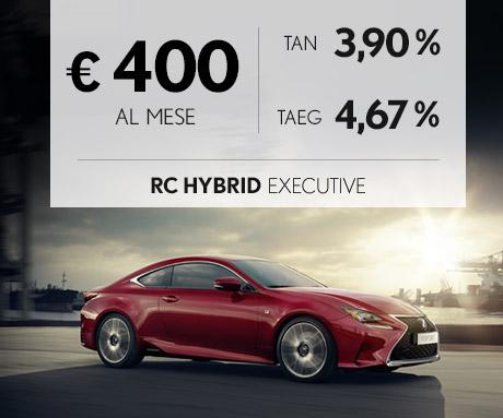 RC Hybrid a 400 euro al mese con offerta PAY PER DRIVE