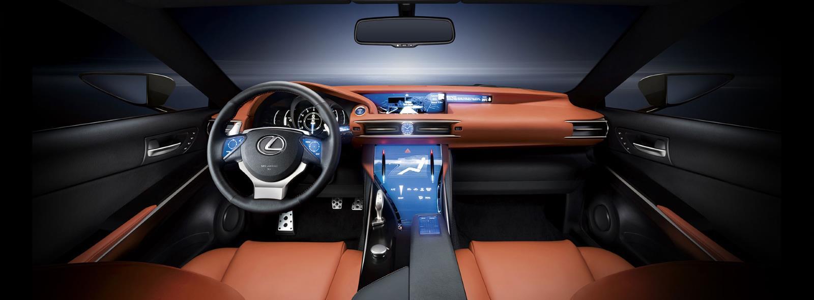 Dettaglio interni sedili in pelle della concept Coupé LF CC Full Hybrid