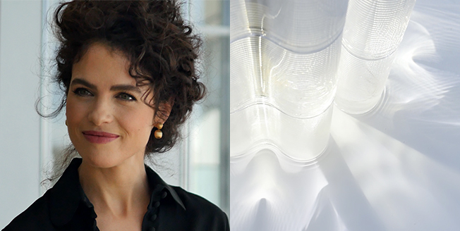 """Primo piano della designer Neri Oxam che ha reinterpretato il concetto """"YET"""" per Lexus"""