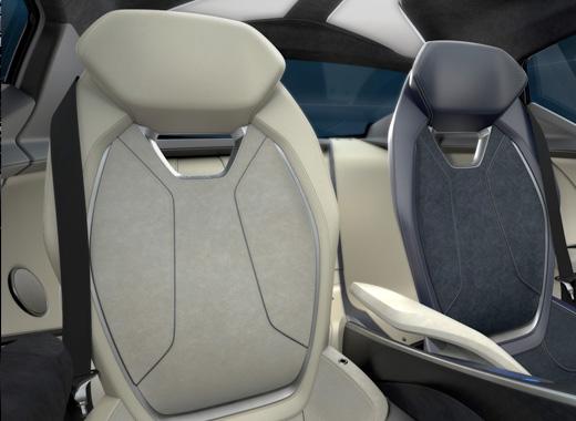 Dettaglio sedili della concept car Lexus LF SA