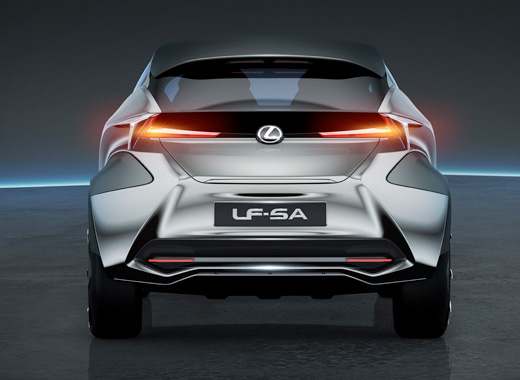 Vista posteriore della concept car Lexus LF SA