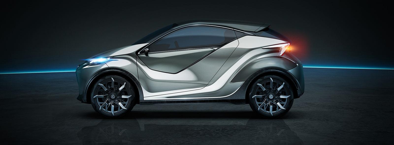 Vista laterale della concept car Lexus LF SA