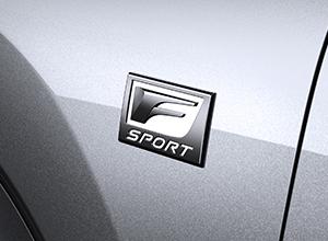 Design esclusivo della versione F Sport
