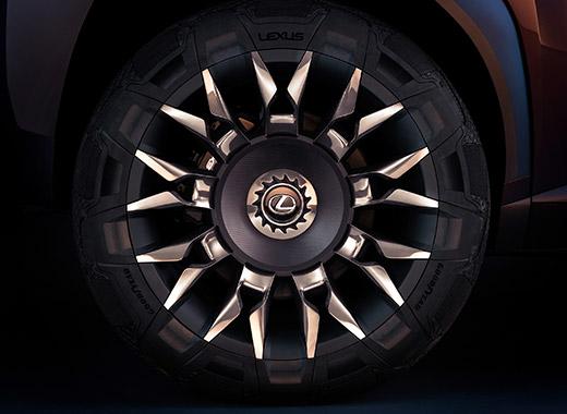 Dettaglio cerchi della nuova Concept Car Lexus UX