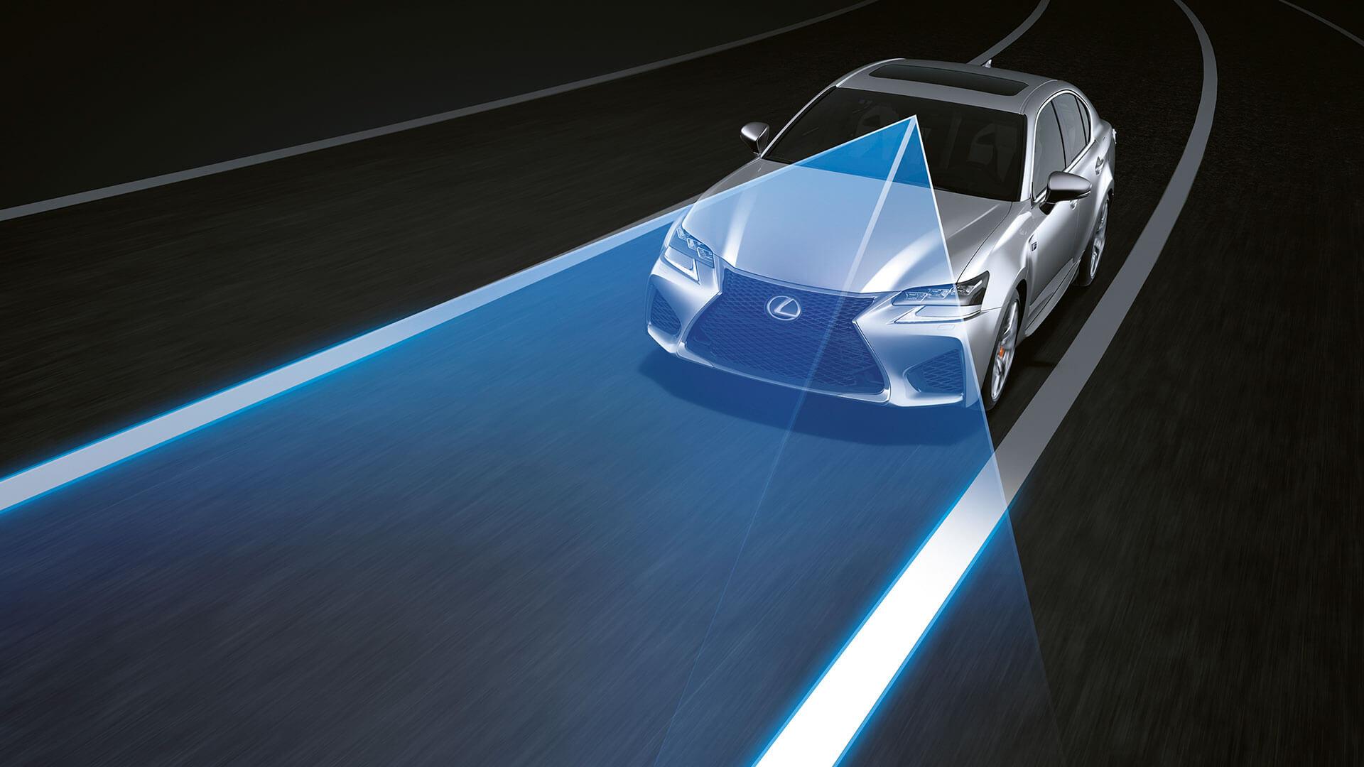 2017 lexus gs f features lane keeping assist