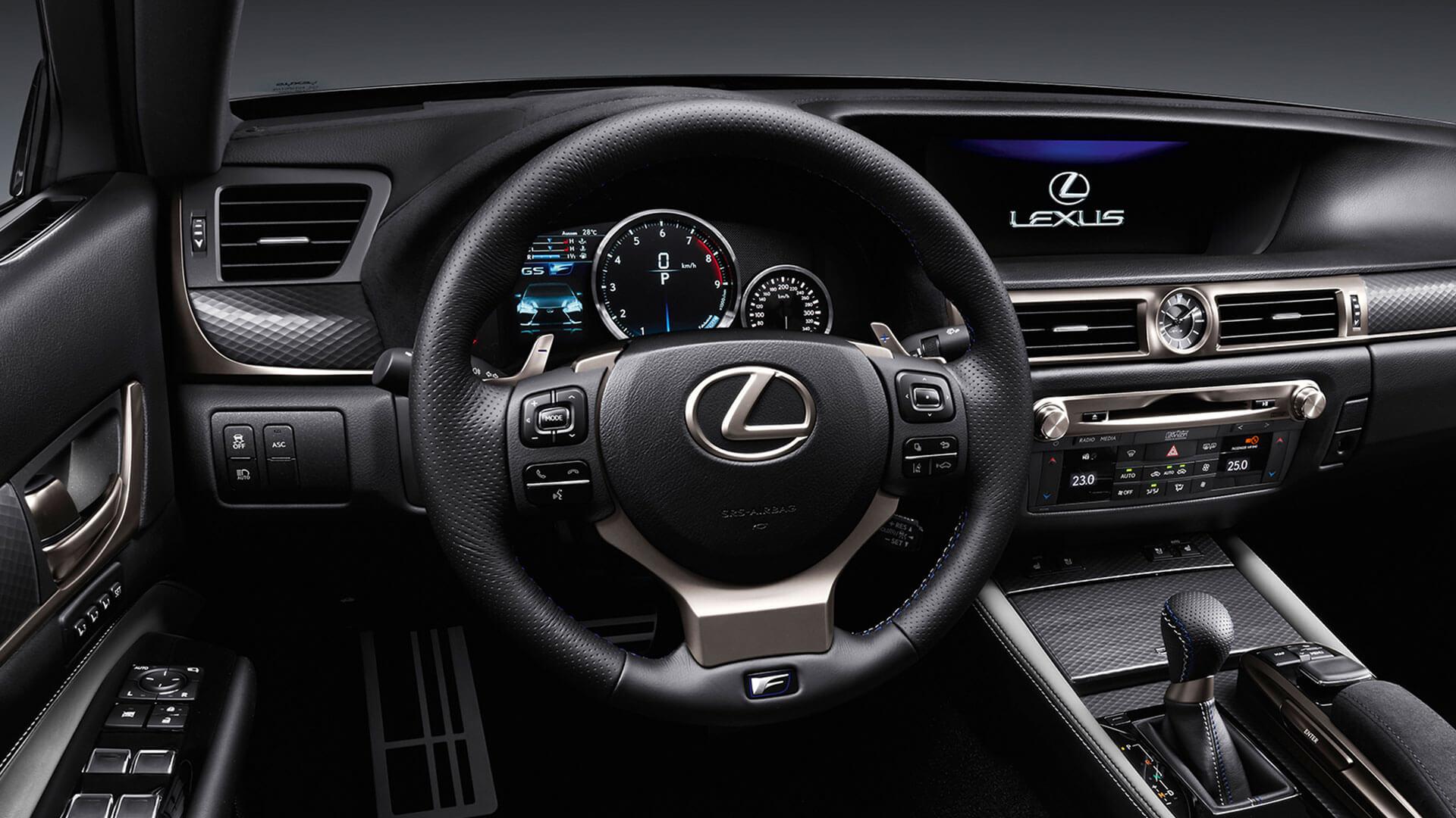 2017 lexus gs f features sports steering wheel