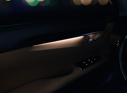 Внутренняя облицовка боковой двери нового Lexus ES 350