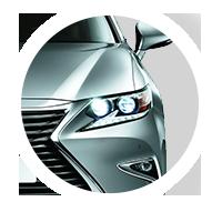 Передние светодиодные фары нового Lexus ES 200