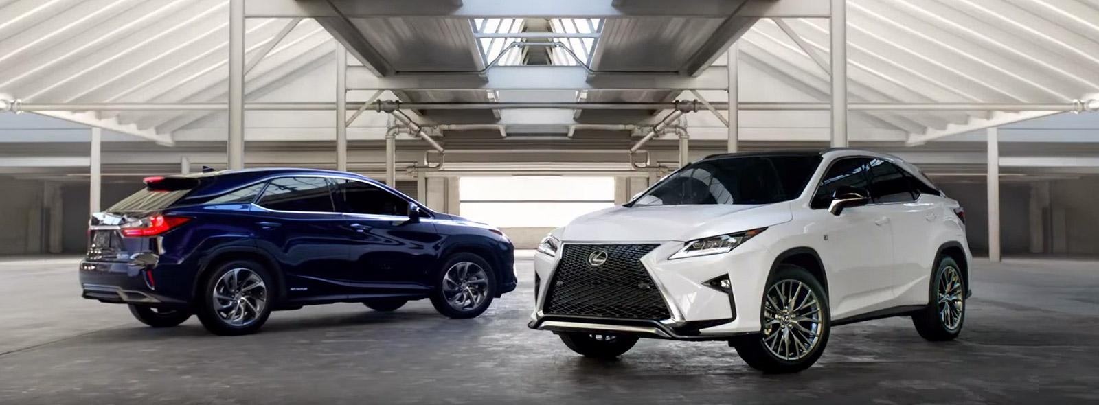 Новые Модели Lexus RX 350 синего и белого цвета