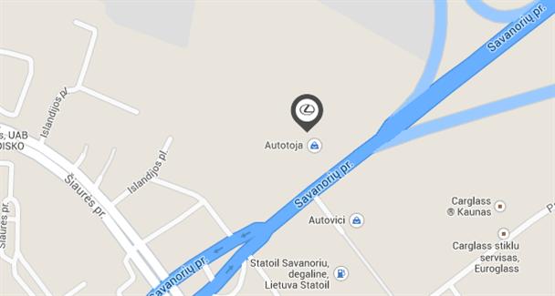 Lexus Kaunas mobile map