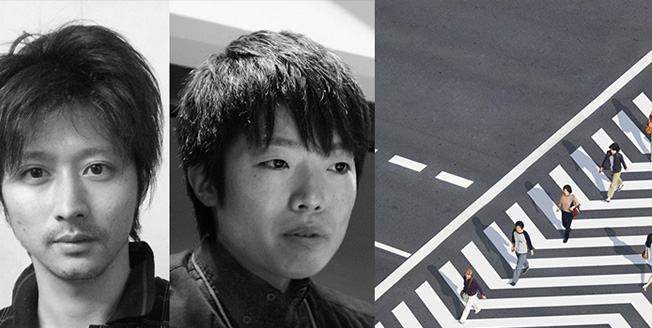 Les créateurs Naoki Kaminaka et Ryo Yamaguchi