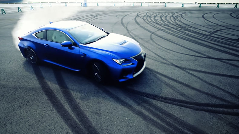 THE NEW RC F AWESOME V8 POWER