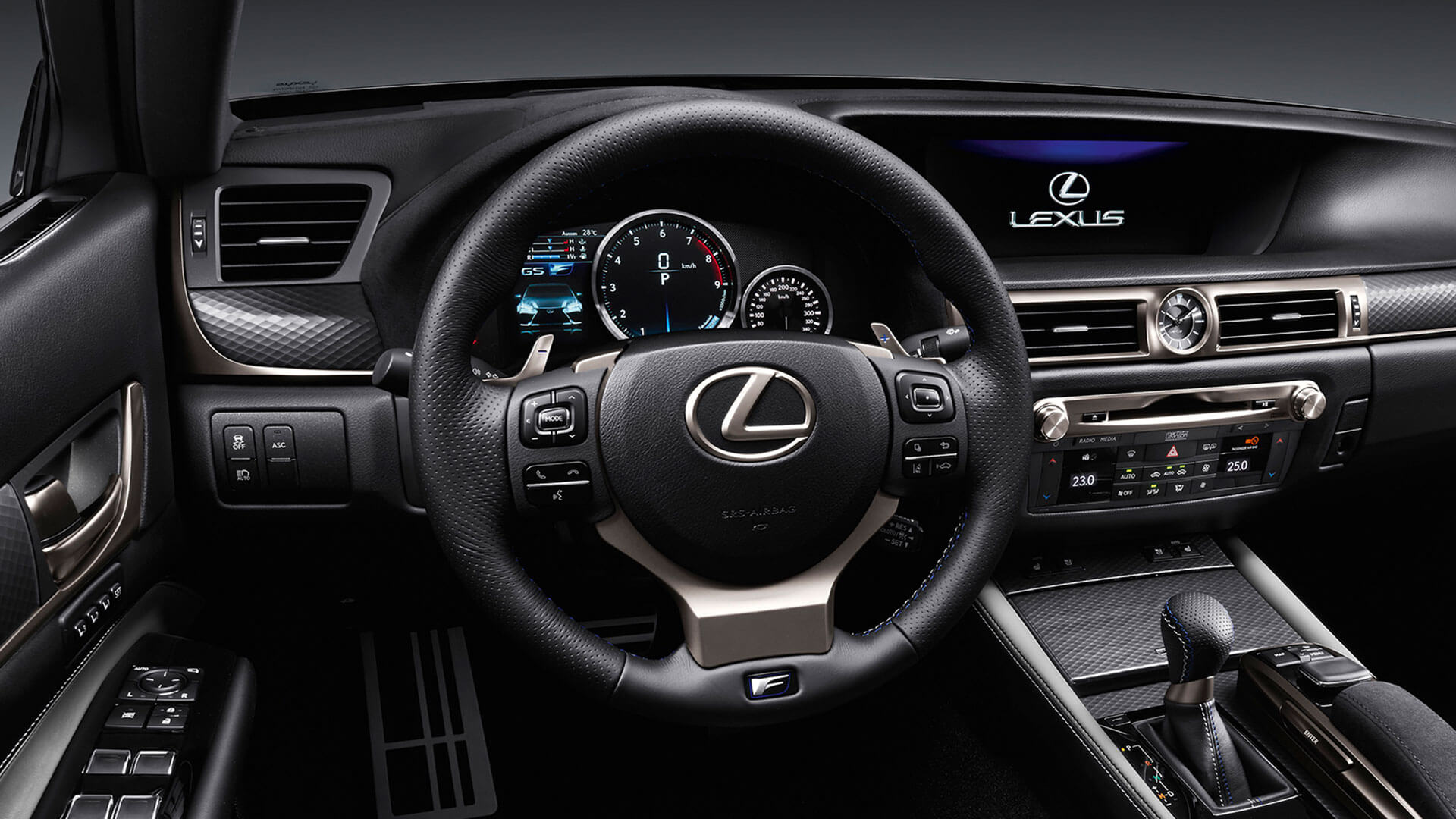 2017q lexus gs f features sports steering wheel