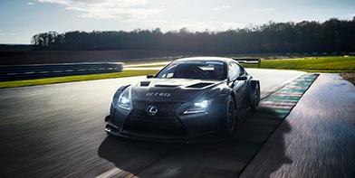 Rijdende Lexus RC F GT3 op circuit