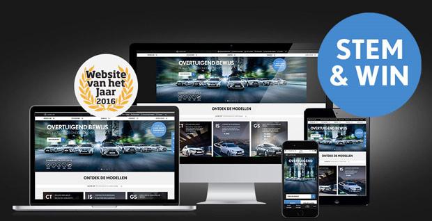 De Lexus nl website afgebeeld op meerdere devices